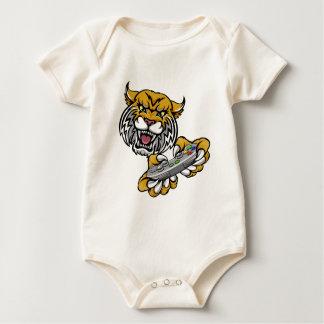 Wildcat Bobcat Player Gamer Mascot Baby Bodysuit