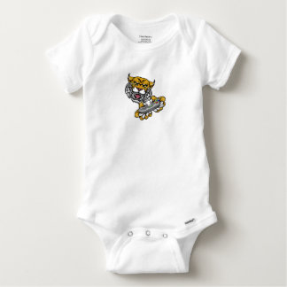 Wildcat Bobcat Player Gamer Mascot Baby Onesie