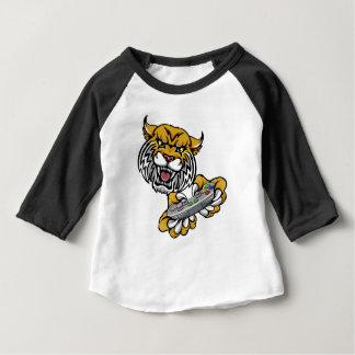 Wildcat Bobcat Player Gamer Mascot Baby T-Shirt
