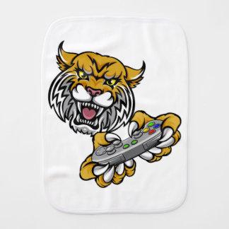 Wildcat Bobcat Player Gamer Mascot Burp Cloth
