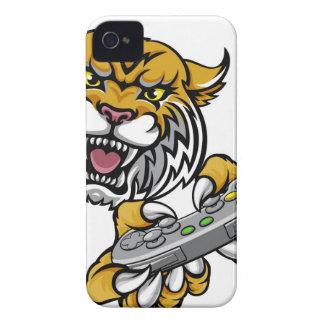 Wildcat Bobcat Player Gamer Mascot iPhone 4 Case-Mate Cases