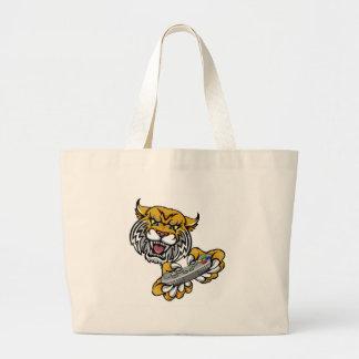 Wildcat Bobcat Player Gamer Mascot Large Tote Bag