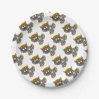 Wildcat Bobcat Player Gamer Mascot Paper Plate