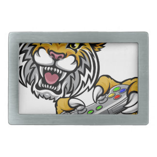 Wildcat Bobcat Player Gamer Mascot Rectangular Belt Buckles