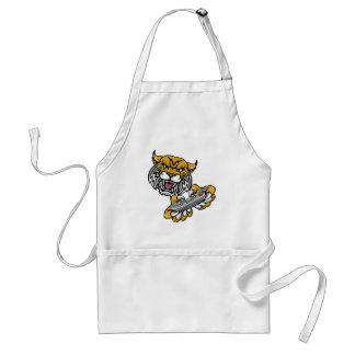 Wildcat Bobcat Player Gamer Mascot Standard Apron