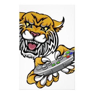 Wildcat Bobcat Player Gamer Mascot Stationery