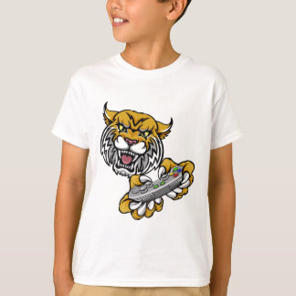 Wildcat Bobcat Player Gamer Mascot T-Shirt