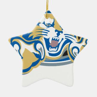 Wildcat Ceramic Star Decoration