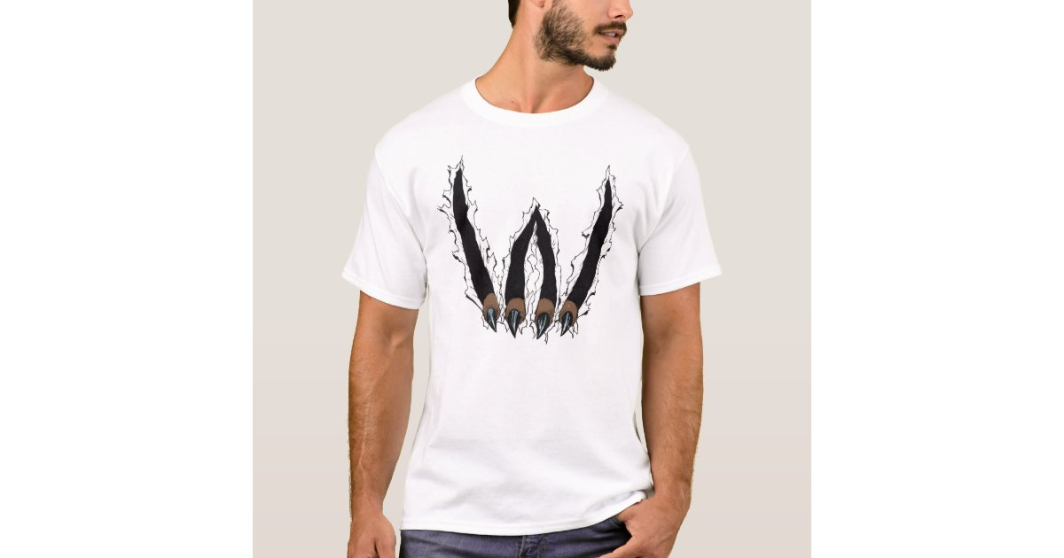 Wildcat Claw Ripping Through T-shirt by Al Rio | Zazzle.com.au