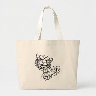 Wildcat Gamer Mascot Large Tote Bag