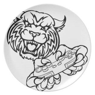 Wildcat Gamer Mascot Plate