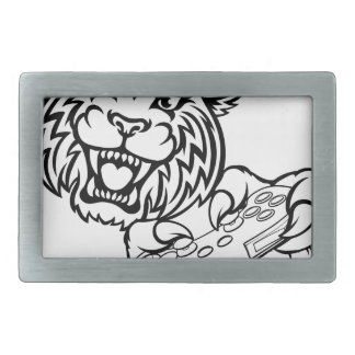 Wildcat Gamer Mascot Rectangular Belt Buckles
