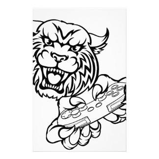 Wildcat Gamer Mascot Stationery