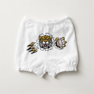Wildcat Holding Baseball Ball Breaking Background Nappy Cover