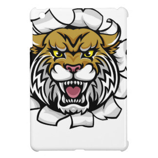 Wildcat Holding Tennis Ball Breaking Background iPad Mini Case