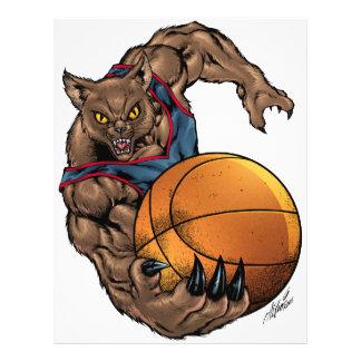 Wildcats Basketball art Blue Shirt, Red Stripe 21.5 Cm X 28 Cm Flyer