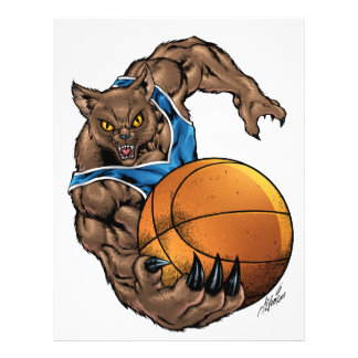 Wildcats Bobcats Basketball Blue White Stripe Full Color Flyer