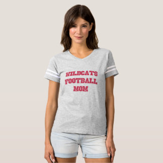 Wildcats Football Mom Jersey T-Shirt