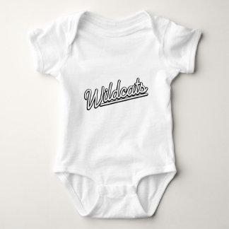 Wildcats in white baby bodysuit