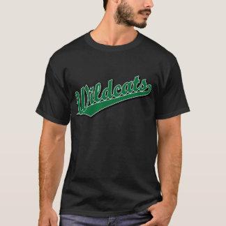 Wildcats script logo in green T-Shirt