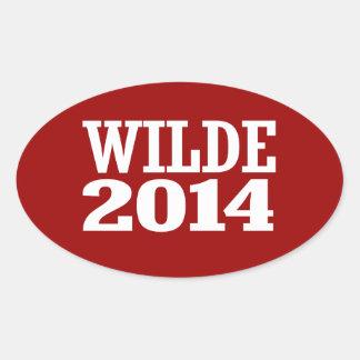 WILDE 2014 OVAL STICKER
