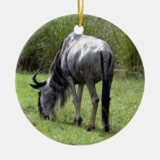 Wildebeest Backside Ceramic Ornament