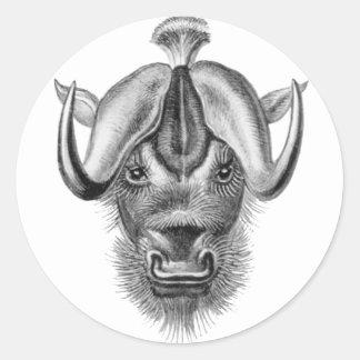 Wildebeest Classic Round Sticker