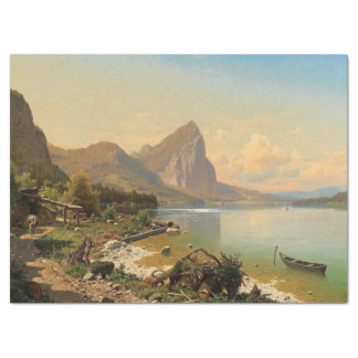 Wilderness Alps Mountain Lake Path Tissue Paper