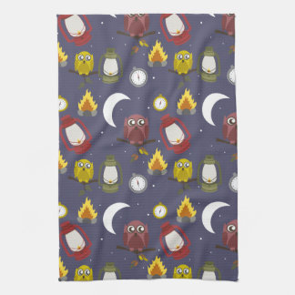 Wilderness Camping Theme Tea Towel