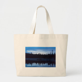 Wilderness Forest Blues Large Tote Bag