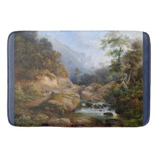 Wilderness Forest Mountains Stream Bath Mat