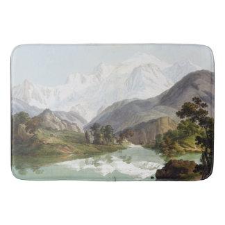 Wilderness French Alps Mountains Blanc Bath Mat