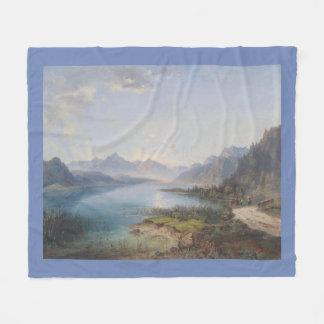 Wilderness Lake Mountains Hikers Fleece Blanket