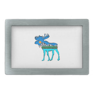 Wilderness Moose Belt Buckles