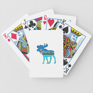 Wilderness Moose Bicycle Playing Cards