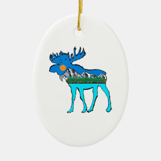 Wilderness Moose Ceramic Ornament