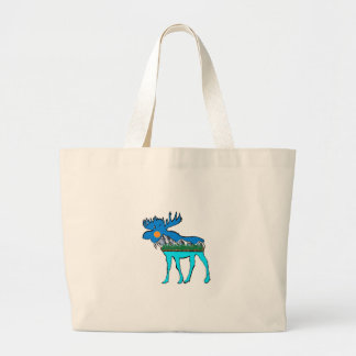 Wilderness Moose Large Tote Bag