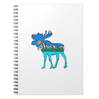 Wilderness Moose Notebook