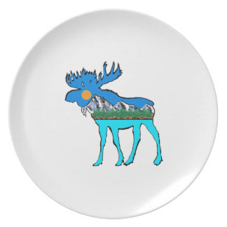 Wilderness Moose Plate