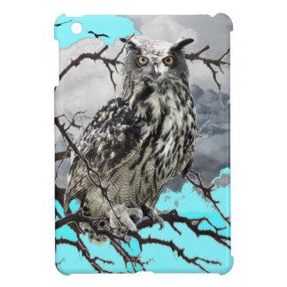 WILDERNESS OWL IN TREE &  BLUE  SKIES iPad MINI COVERS