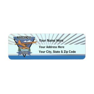 Wilderness Seaplane Adventure Alaska Return Address Label
