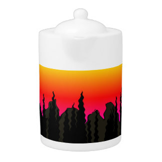 Wilderness Silhouette Sunset accent