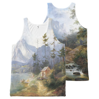 Wilderness Stream Forest Lake Trees Alps Tank Top