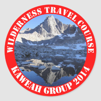 Wilderness Travel Course Kaweah Group 2014 Sticke Round Sticker