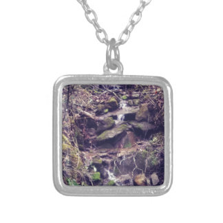 Wilderness Waterfall Silver Plated Necklace