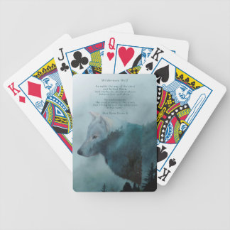 Wilderness Wolf & Eco Poem Bicycle Playing Cards