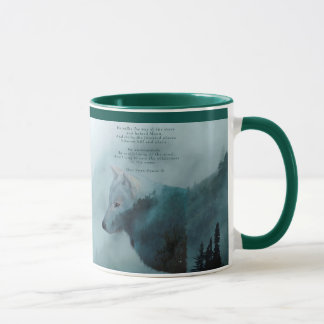 Wilderness Wolf & Eco Poem Mug