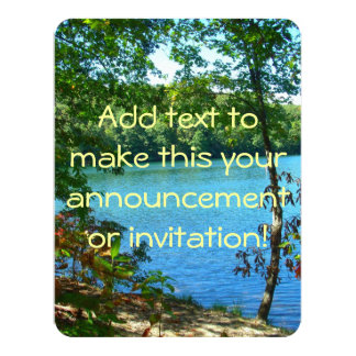 Wilderness Wooded Lake Card
