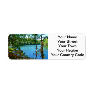 Wilderness Wooded Lake Return Address Label