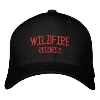 WILDFIRE RECORDS STAFF HAT EMBROIDERED BASEBALL CAPS